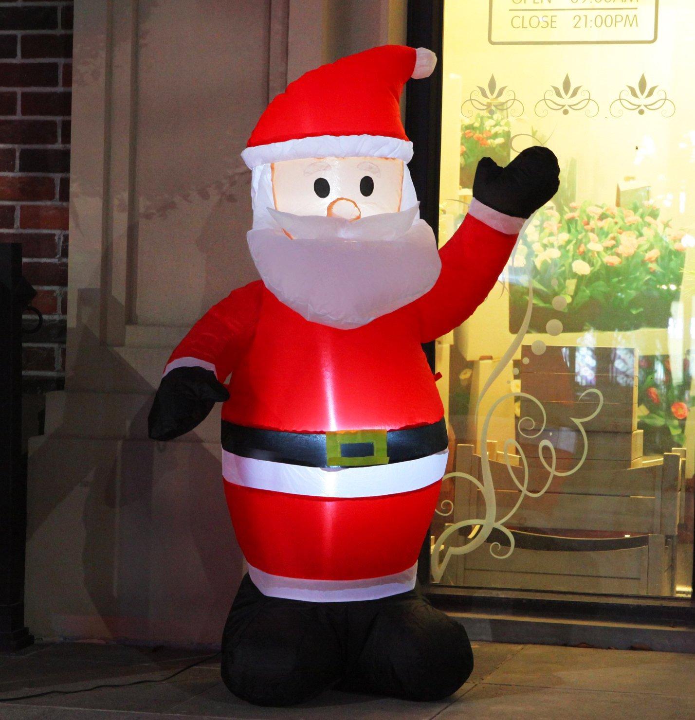 Amazoncom Fashionlite 4 Feet Christmas Xmas Inflatable Santa Claus Lighted