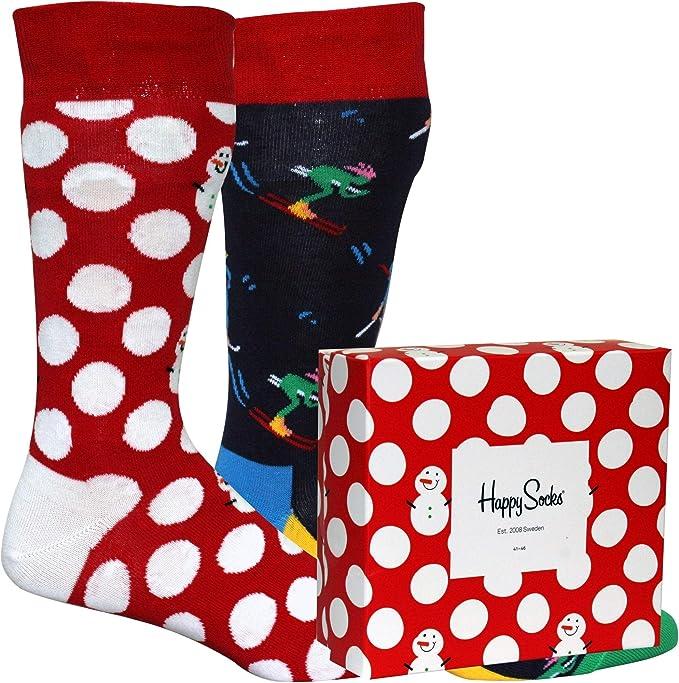 Happy Socks Calcetines Unisexo Christmas Gift Box (2 pairs) 41-46 ...