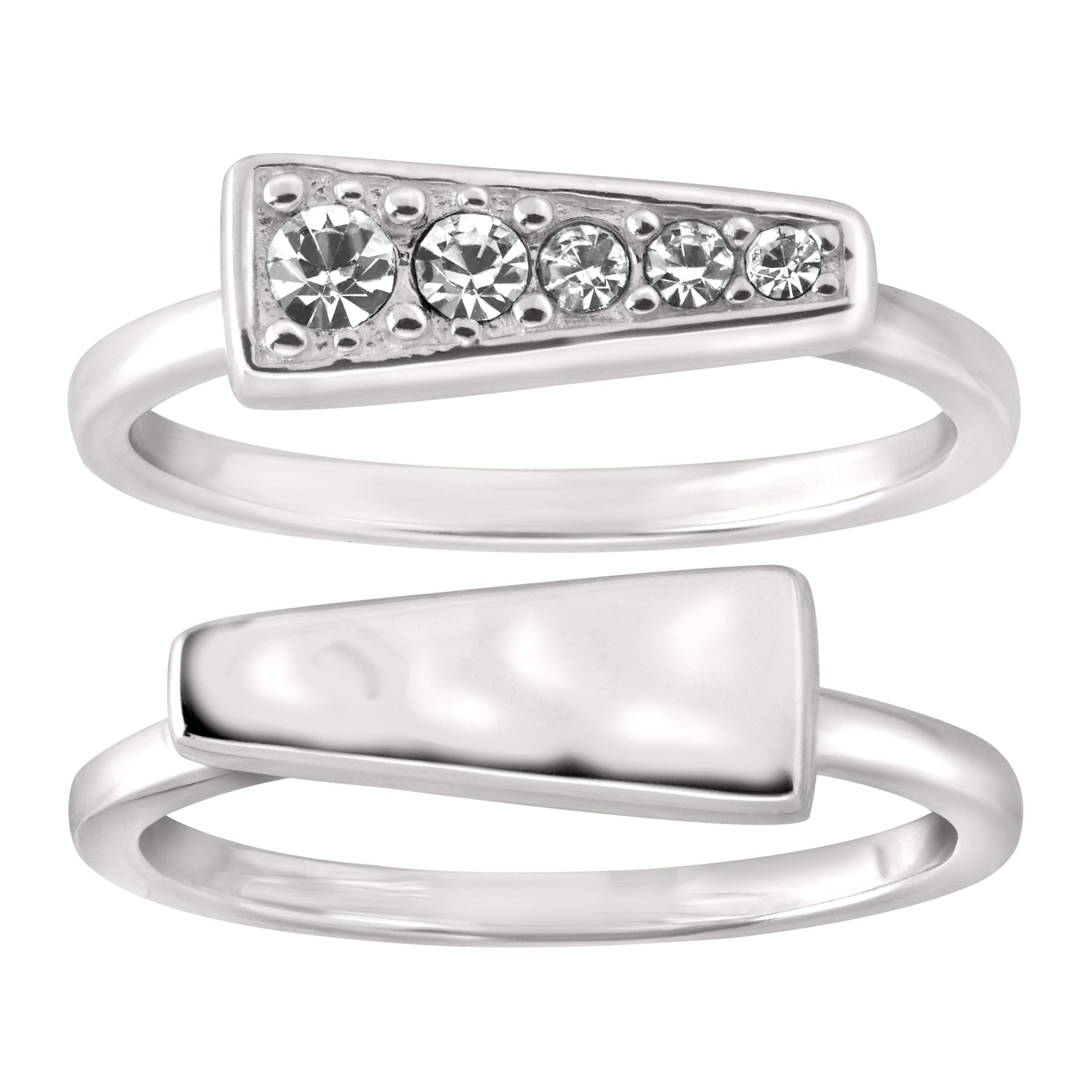 Silpada 'Spotlight' Stacking Rings with Swarovski Crystals in Sterling Silver