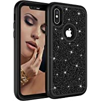 """Ranyi iPhone XS Max Case, Full Body Glitter Rhinestone Shock Absorbing 3 in 1 Design Luxury Glitter Bling Shiny Sparkling Hybrid Rugged Protection Case for Apple 6.5"""" iPhone XS Max (2018)"""