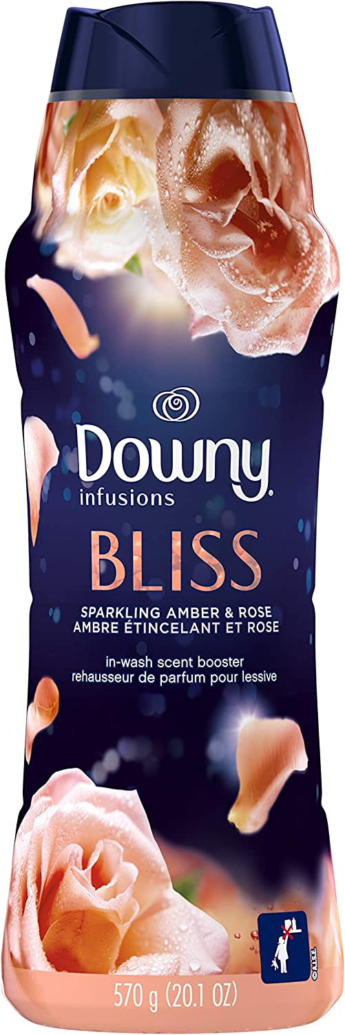 Downy Infusions in-Wash Scent Booster Beads, Bliss, Sparkling Amber & Rose, 20.1 Oz