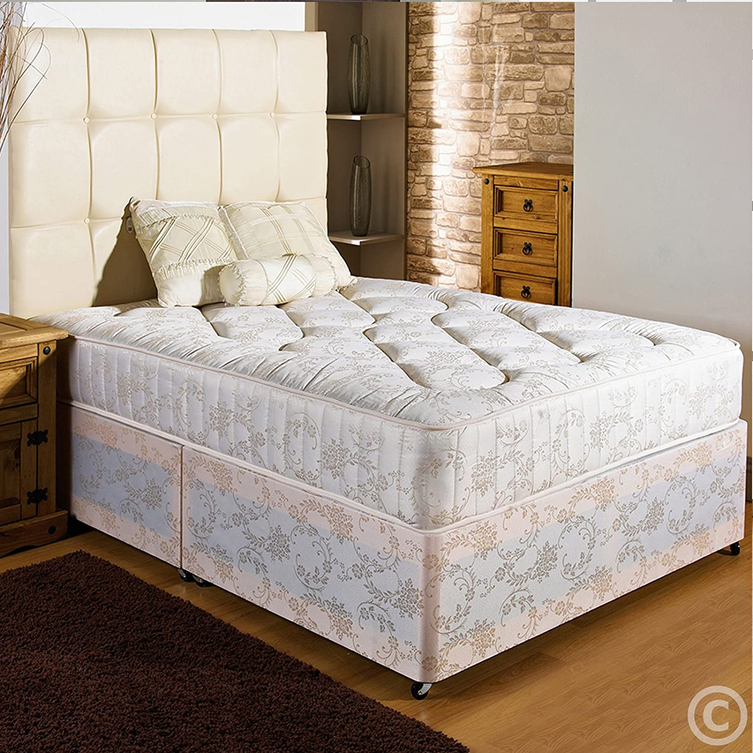 4Ft Small Double End Drawer Hf4you Divan Bed Visco