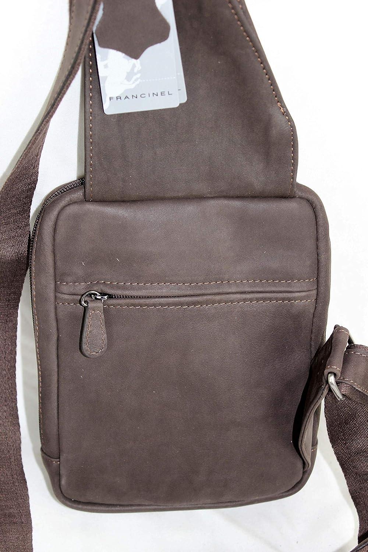 Francinel sac monobretelle holster en cuir réf 655039 + CADEAU SURPRISE  (marron)  Amazon.fr  Chaussures et Sacs 959a18fc5f4