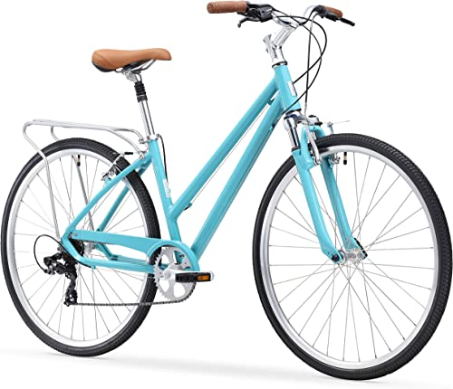 sixthreezero Pave N Trail Women s Hybrid Road Bicycle w Rear Rack, 26 Wheels 17 Frame