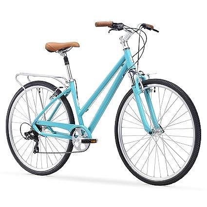 sixthreezero Pave N Trail Bicicleta de Carretera híbrida para Mujer con Estante Trasero, Ruedas