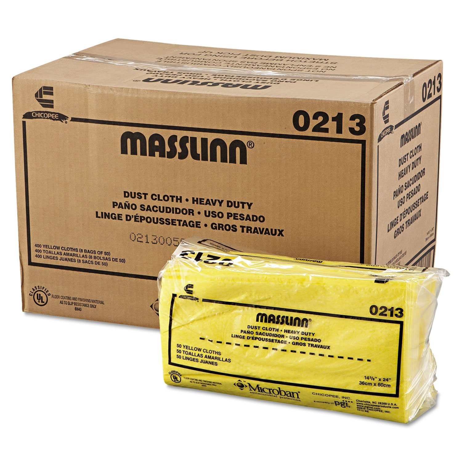 Chix 0213 Masslinn Dust Cloths, 24 x 16, Yellow, 400/Carton