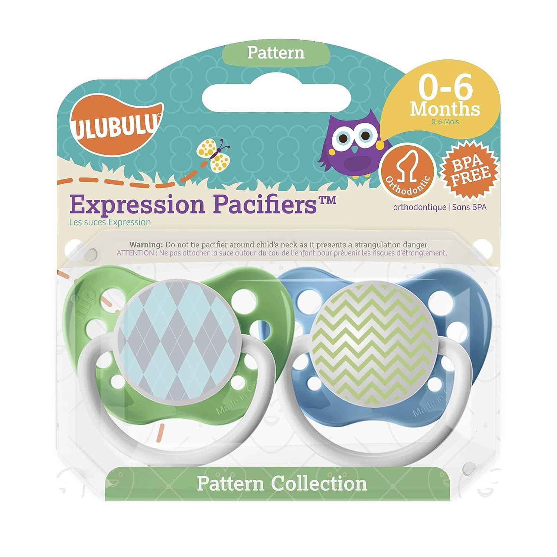 Amazon.com: Ulubulu Expresión Chupete Set, 0-6 mes: Baby