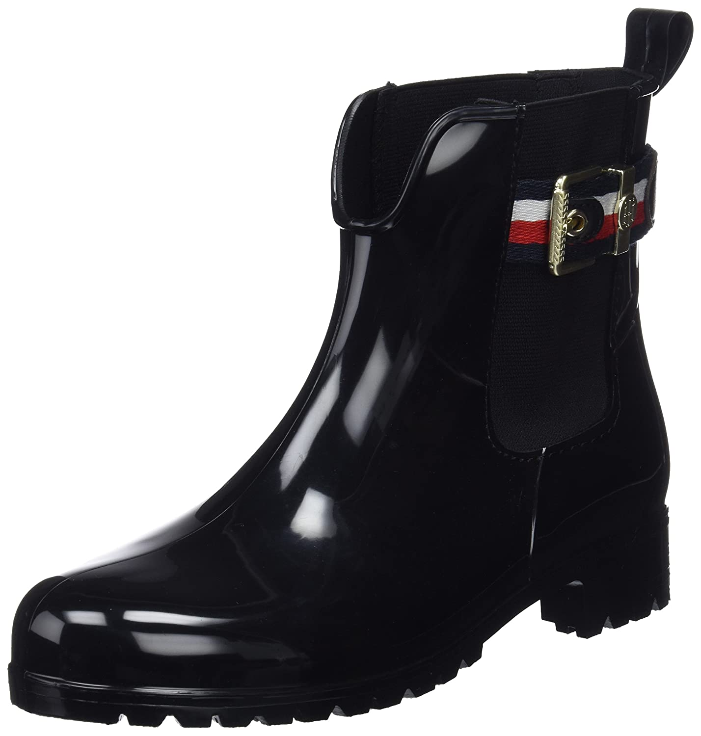 2692ddfad0 Amazon.com | Tommy Hilfiger Corporate Belt Rain Womens Boots | Rain ...