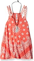 Beautees Girls' Braided Straps Tank Top with Necklace
