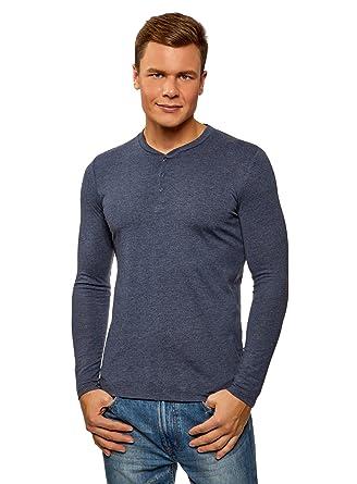 da714908ee oodji Ultra Hombre Camiseta Henley sin Etiqueta de Algodón  Amazon.es  Ropa  y accesorios