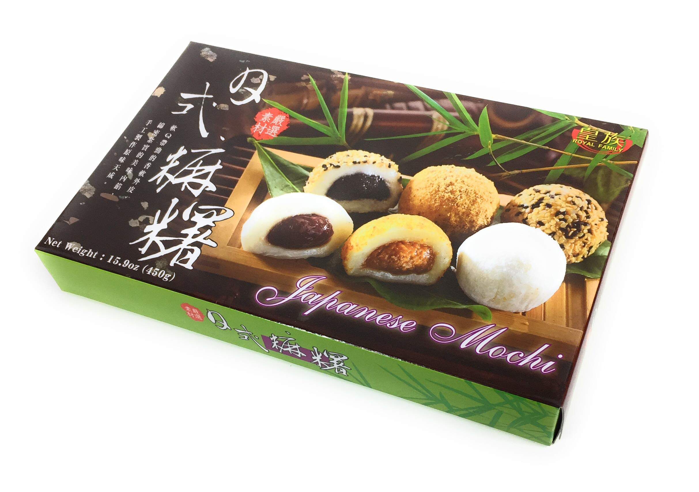 Royal Family Japanese Mochi Daifuku Assorted 15.9 oz / 450g (Pack of 12)