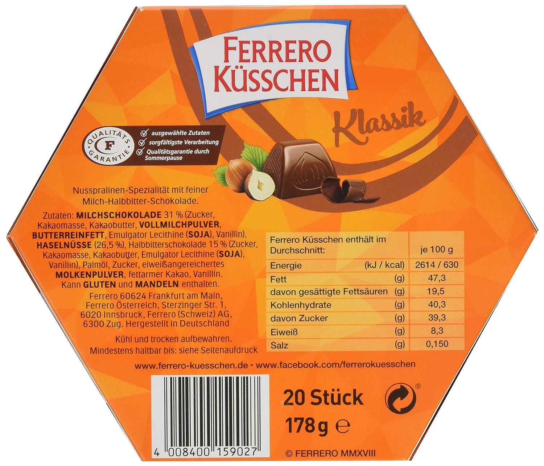 Weihnachtsdeko Ferrero.Ferrero Küsschen 8er Pack 8 X 178 G Packung