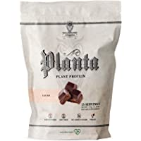 Ambrosia Planta - Premium Organic Plant-Based Protein   Vegan & Keto Friendly   Gourmet Flavors with No Bloating or Stomach Upset   Gluten & Soy Free   No Added Sugar   25 Servings   Cacao