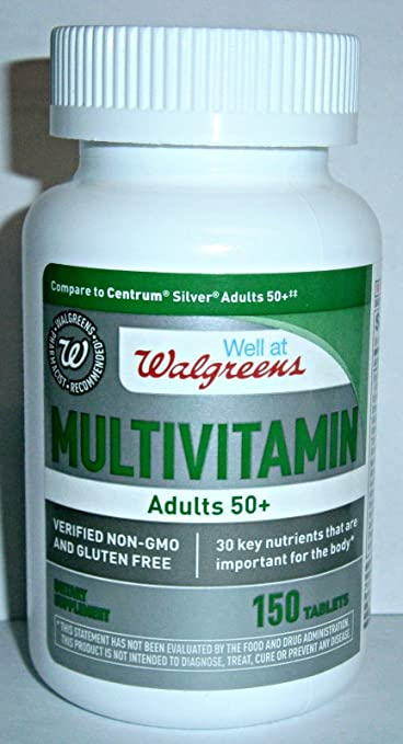 Walgreens Silver Adults 50+ Multivitamin 150 Caplets