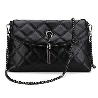 Bagerly Women Fashion Clutch Crossbody Quilted Handbag with Chain ... : quilted handbag with chain strap - Adamdwight.com