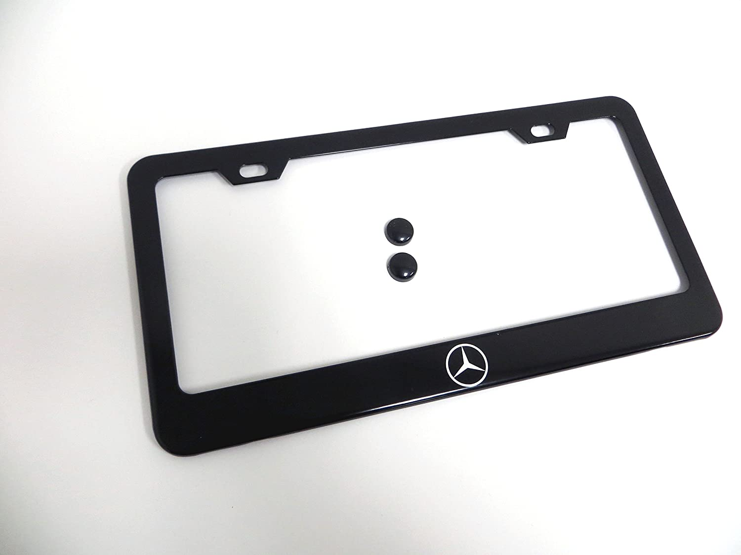 1 pc Mercedes-Benz Logo Black Metal License Plate Frame Deepro International Company Limited