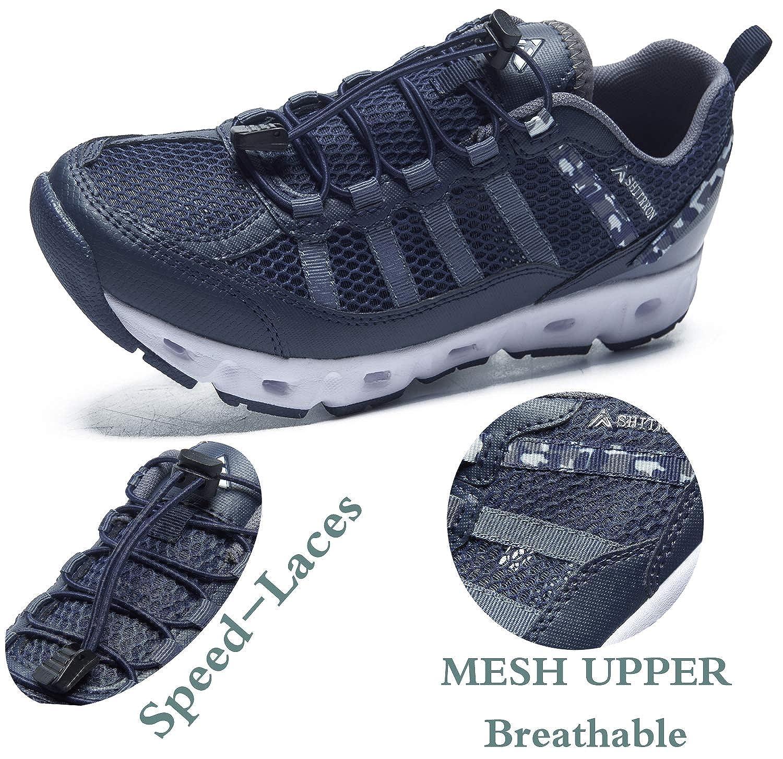SMajong Water Shoes Men Women Summer Outdoor Quick Dry Mesh Sports Shoes Barefoot Slip On Hiking Trekking Shoes Swim Surf Diving
