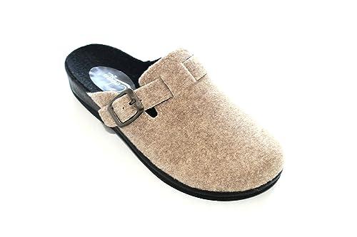 Damen Hausschuh Pantoffeln Beige Filz Gr.36-41 Gezer 37 zQ5Aoki