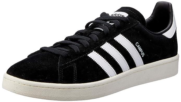 adidas Campus Sneaker Herren Schwarz mit weißen Streifen