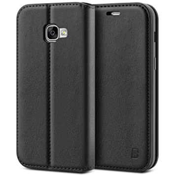 premium selection c016a f4cfe Samsung A3 2017 Case - BEZ® Protective PU Leather Wallet Flip Cover for  Samsung Galaxy A3 2017 with Card Holders, Kick Stand, Magnetic Closure,  Black