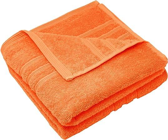 2er 50 x 100 cm Clementinas naranja Lashuma London Toalla de rizo algod/ón suave