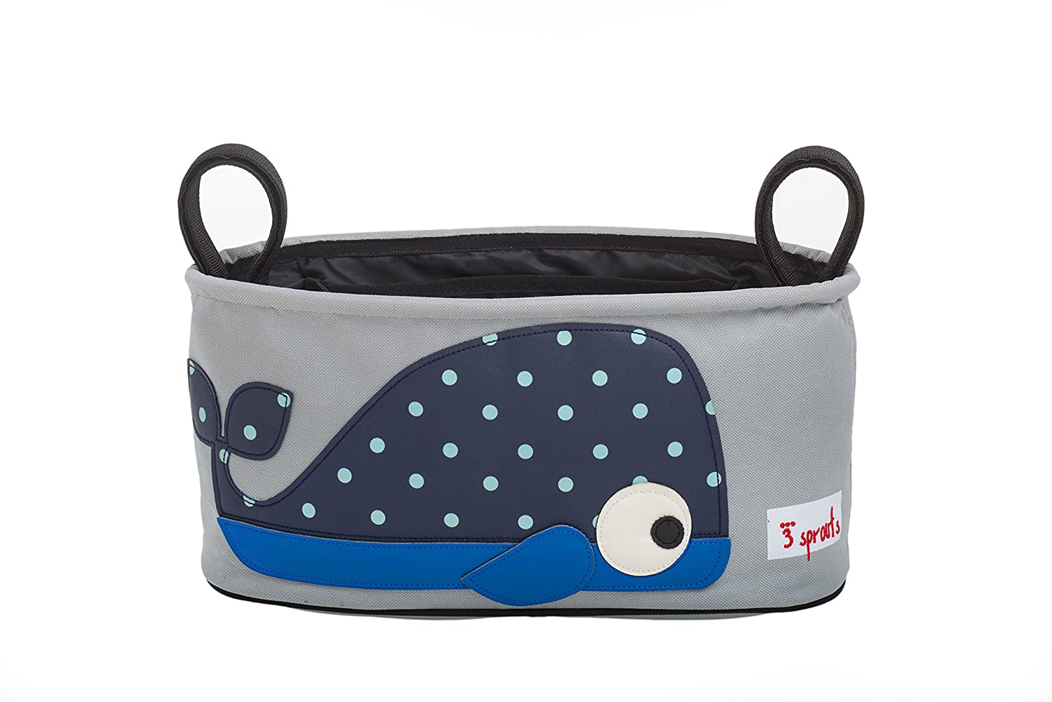 3 Sprouts Universal Stroller Organizer - Baby Jogger Caddy with Cup Holder, Whale