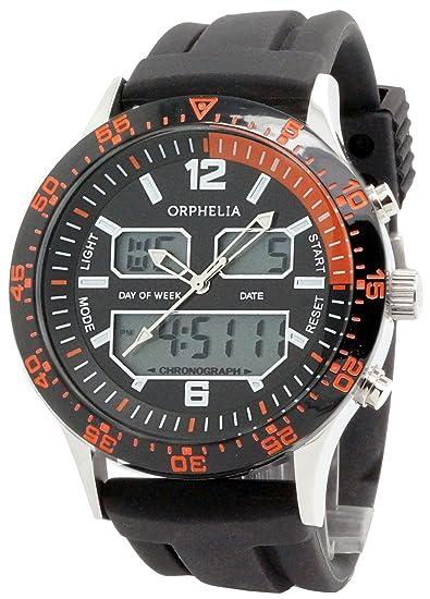 Orphelia Reloj analógico-Digital para Hombre de Cuarzo con Correa en Silicona OR22691244: Amazon.es: Relojes