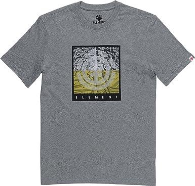 Element REROUTE Hombre Camiseta T-Shirt Grey Heather M: Amazon.es: Ropa y accesorios
