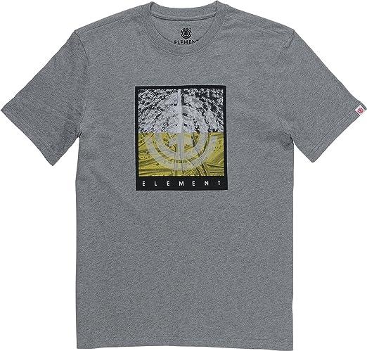 Element REROUTE Hombre Camiseta T-Shirt Grey Heather M: Amazon.es ...