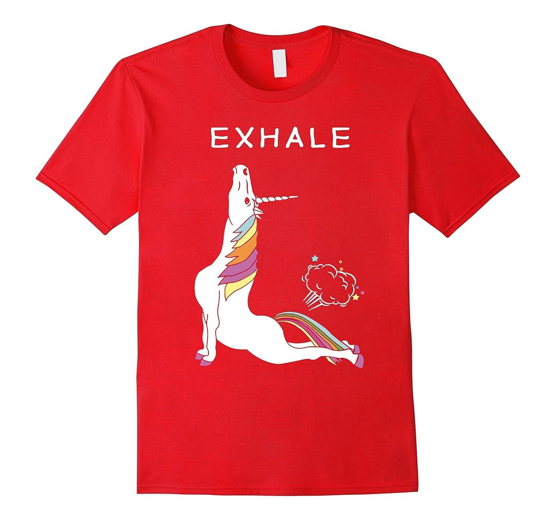 Unicorn With Rainbow Yoga funny Shirt-BN