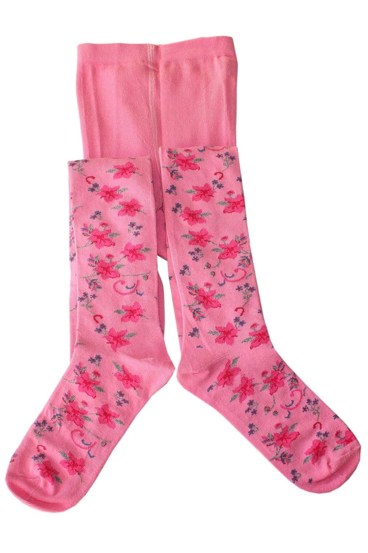Weri Spezials Kinderstrumpfhose von Weri Schicke Blumen! Farbe:Rosa