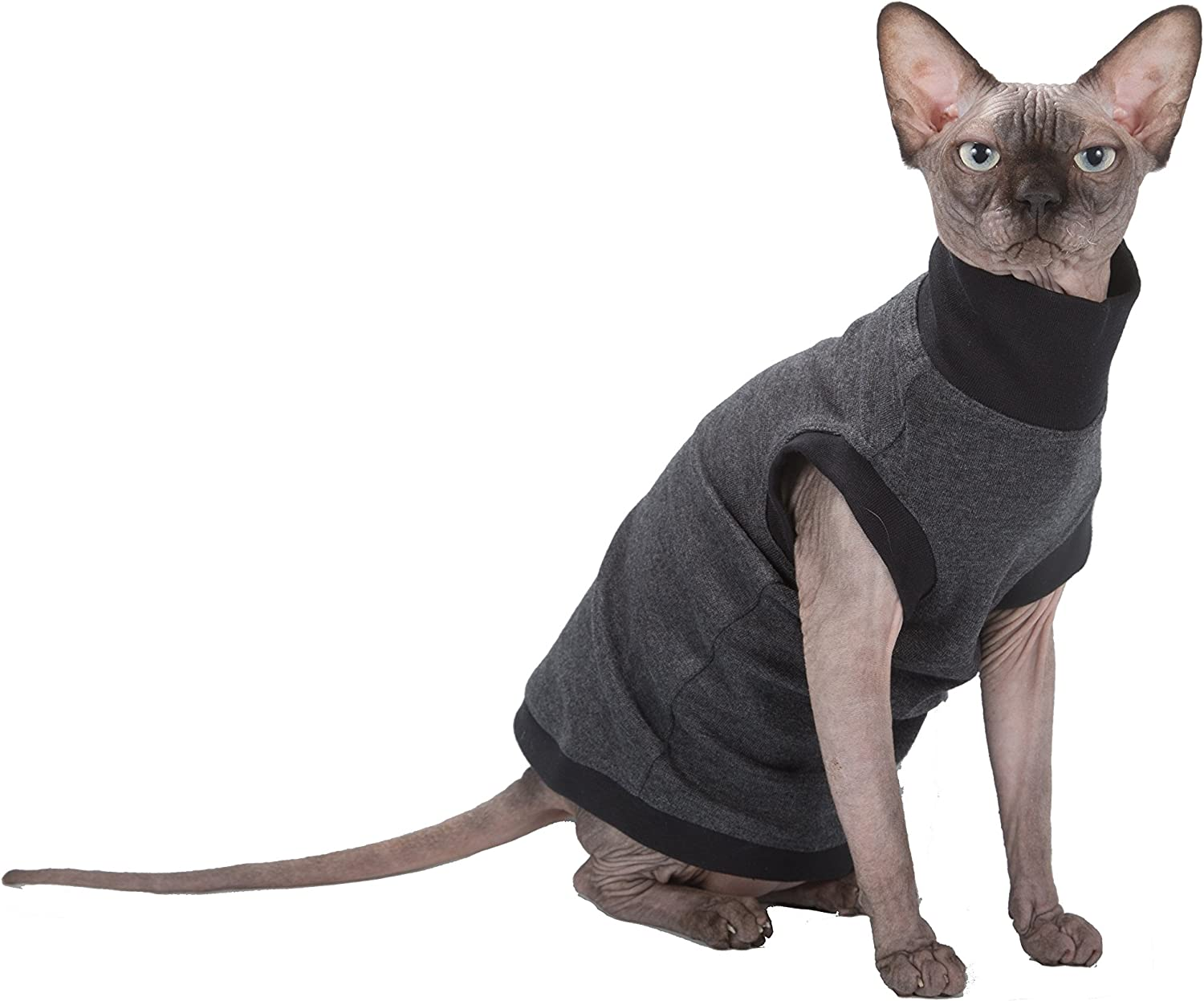 XS Kotomoda Cats SWEATER with long sleeves and grey light stripes