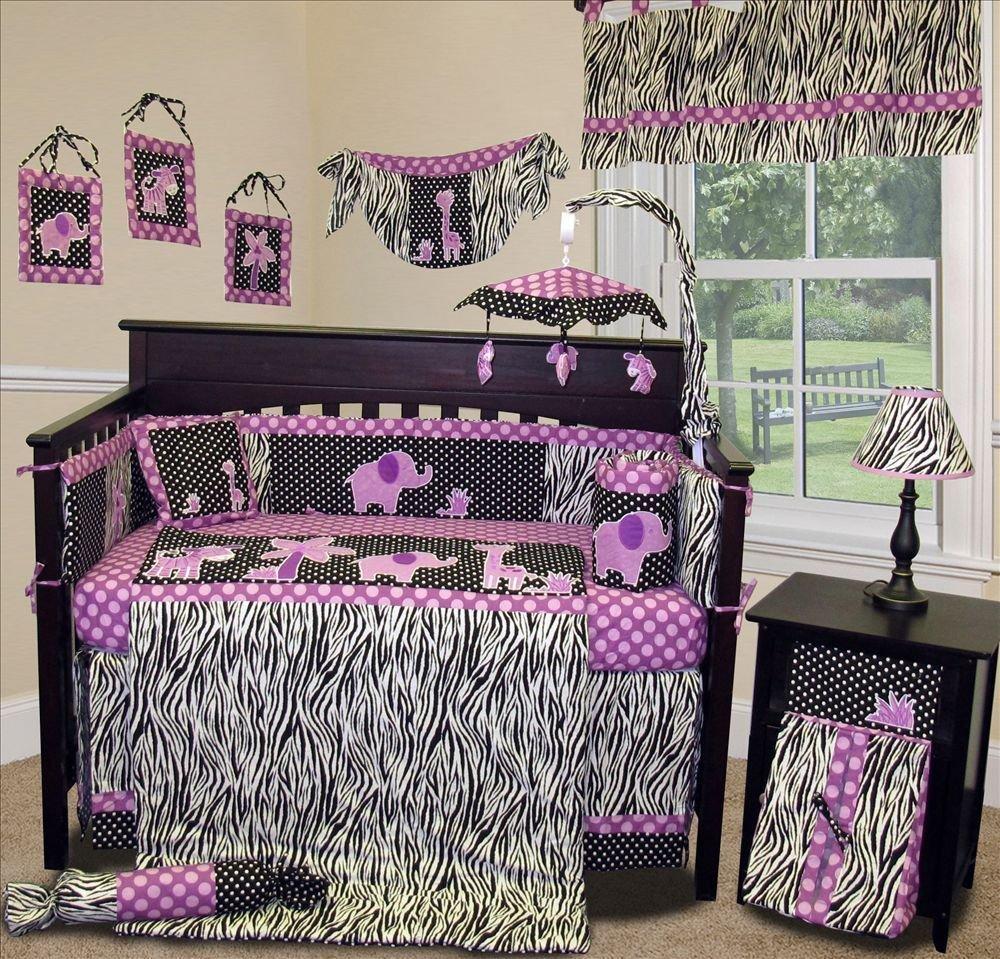 SISI Baby Girl Boutique - Animal Planet Purple - 15 PCS Crib Bedding Set by Sisi   B00A3Z8W0W