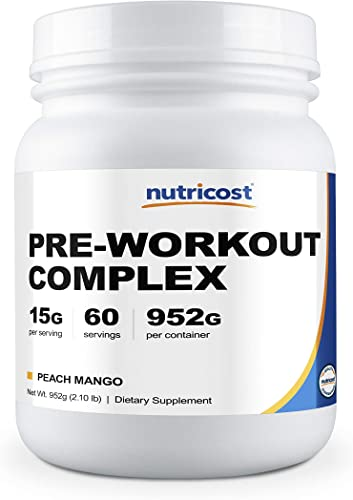 Nutricost Pre-Workout Complex Peach Mango, 60 Servings