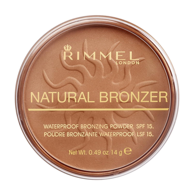 Polvo bronceador Rimmel London resistente al agua y SPF 15.