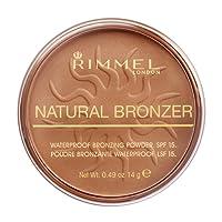 Rimmel - Natural Bronzer -Terra Abbronzante Waterproof a Lunga Durata SPF 15 - 021 Sun Light - 14 g