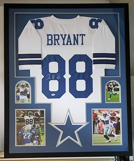 new products f8ec8 84806 Dez Bryant Signed Autographed Jersey Dallas Cowboys Framed ...