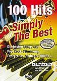 100 Hits Simply The Best mit 5 Playback CDs: Die besten Songs aus Pop, Rock, Stimmung, Evergreens, Schlager, Oldies...