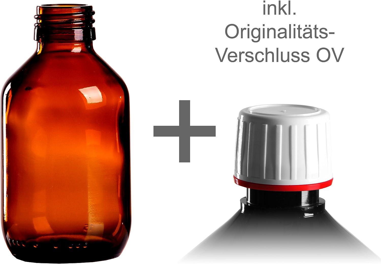 10 x braunglasf lengüeta 150 ml/Medicina Botella con rociador de rosca OV Blanco Din 28: Amazon.es: Hogar