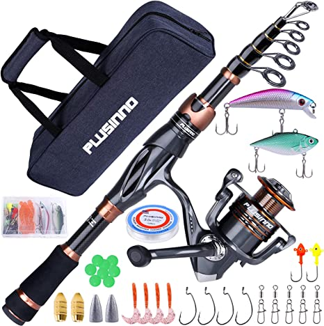 PLUSINNO Fishing Rod and Reel Combos Toray 24 Ton Carbon