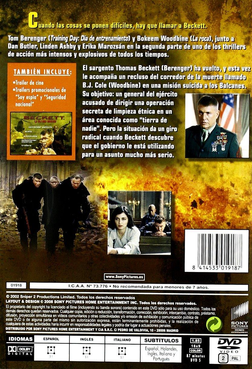 Beckett, la última misión (Sniper 2) [DVD]: Amazon.es: Tom Berenger, Linden Ashby, Dan Butler, Erika Marozsan, Bokeem Woodbine, Craig R. Baxley: Cine y ...