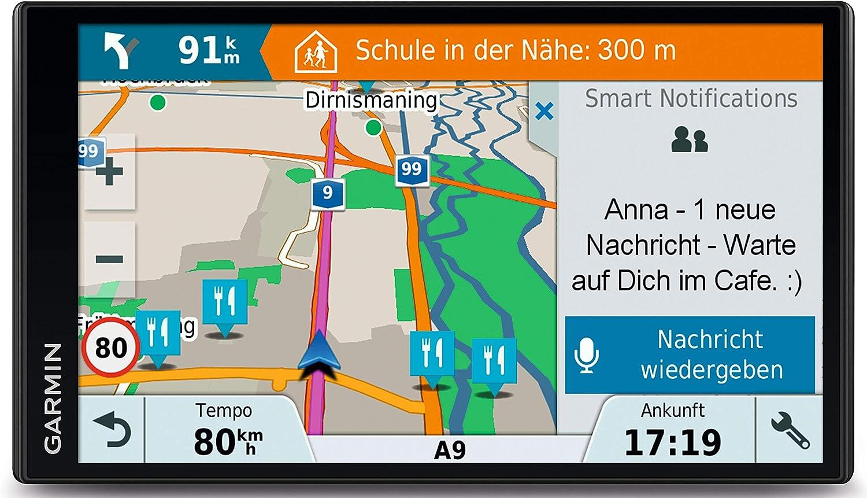 Garmin DriveSmart 61LMT-D - Navegador GPS por satélite con pantalla táctil de 6.95