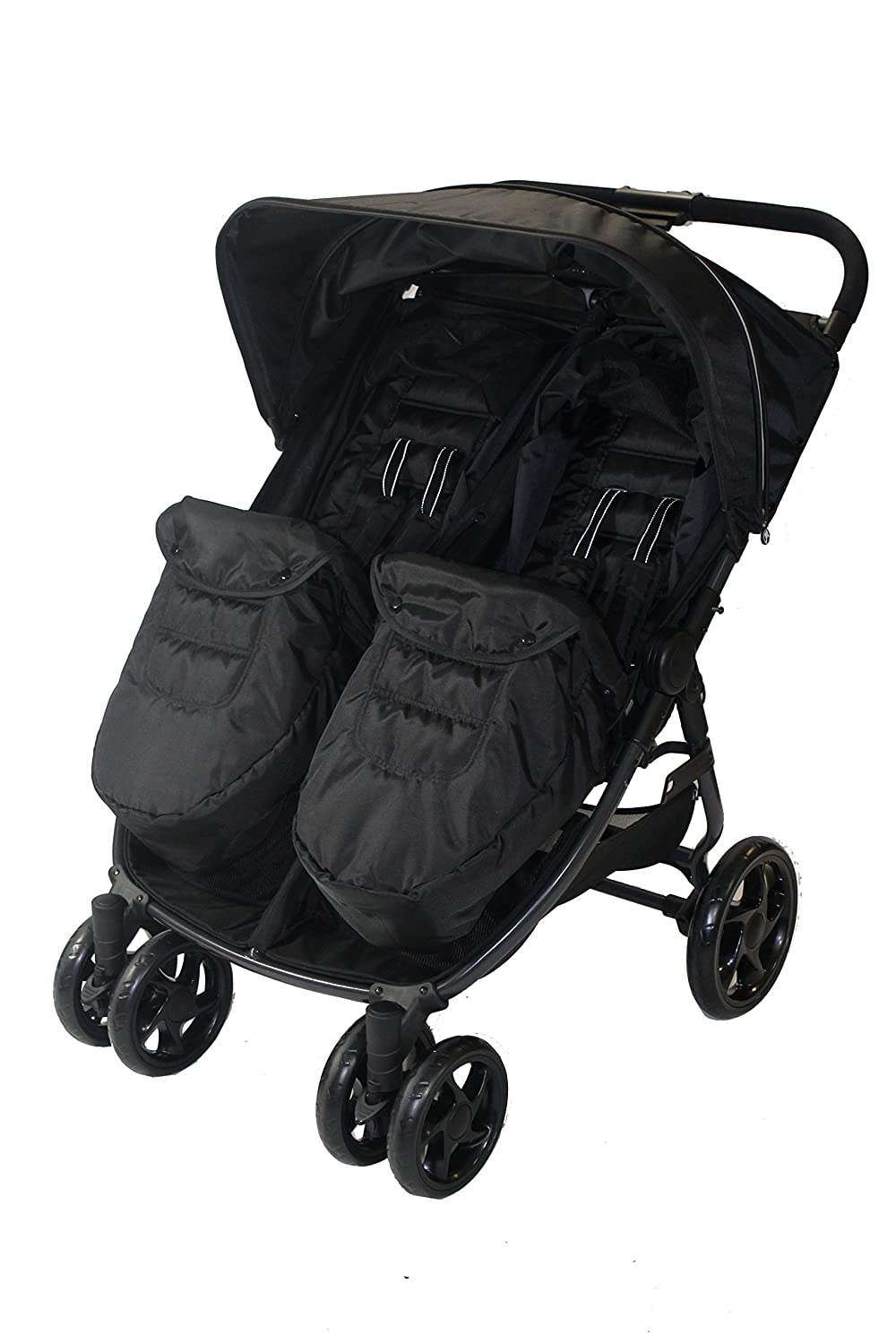 RedKite Push Me Black Frame Twini Twin Jogger Pushchair - New Colour And New Model 2017 Design