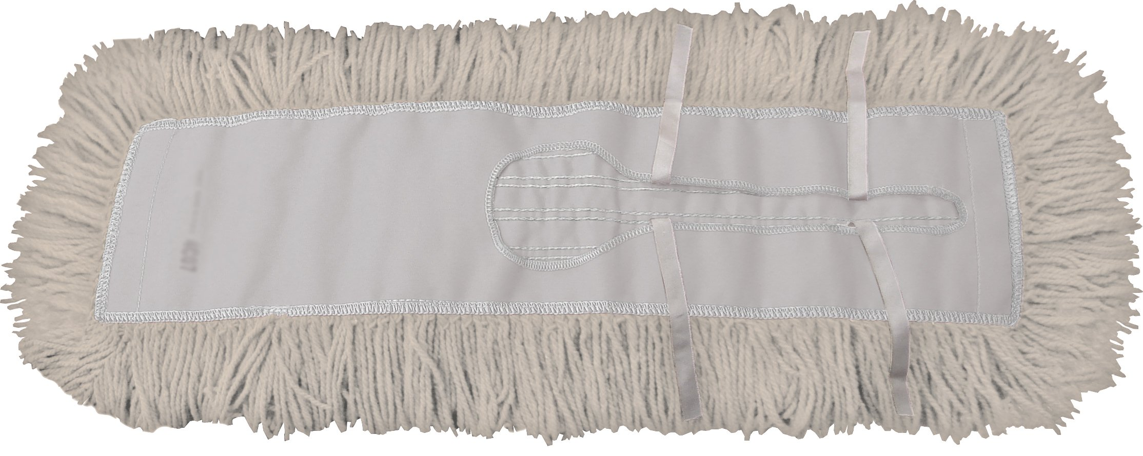 Dust Mop Kit 60'' : (1) 60'' White Industrial Closed-Loop Dust Mop, (1) 60'' Wire Dust Mop Frame & (1) Dust Mop Handle Clip-On Style Wood by Direct Mop Sales, Inc. (Image #2)
