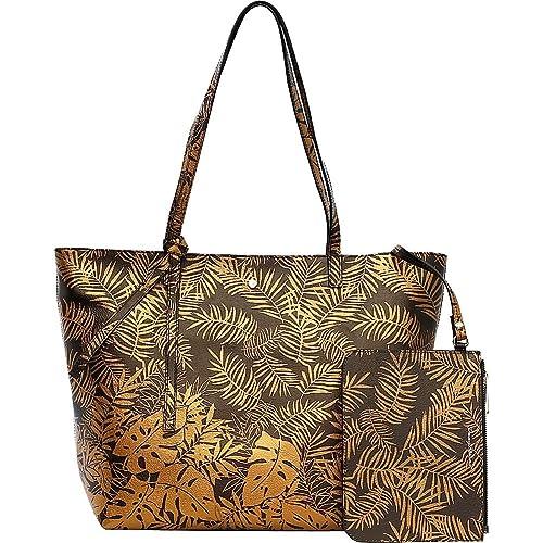 Tommy Bahama Women s Cocoa Beach Market Tote Bronze Handbag  Amazon ... 7aa0faa737e76