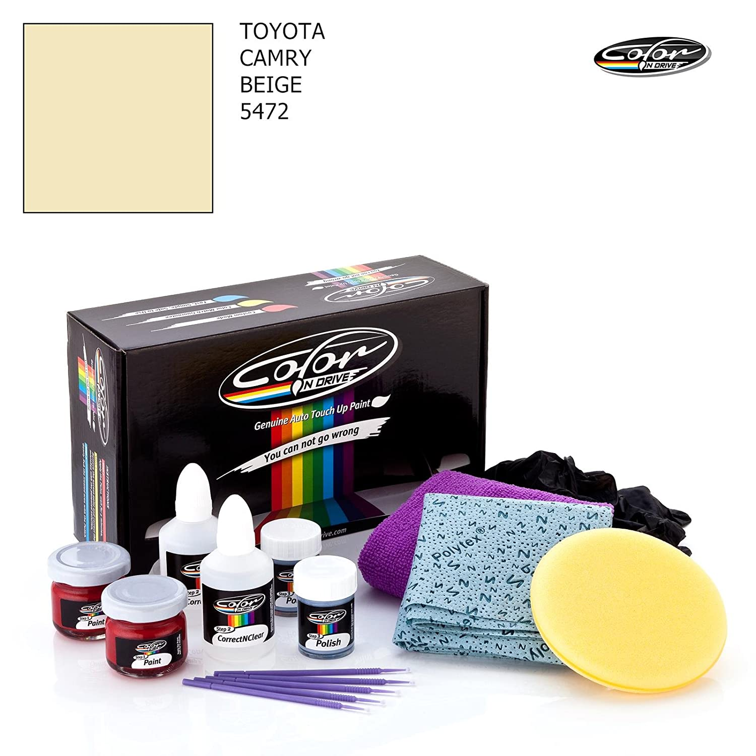 Toyota Camry Beige 5472 Color N Drive Touch Up Wire Diagram Labels Paint System For Chips And Scratches Basic Pack Automotive