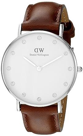 Daniel Wellington , 0960DW , Montre Femme , Quartz , Analogique , Bracelet  cuir Marron