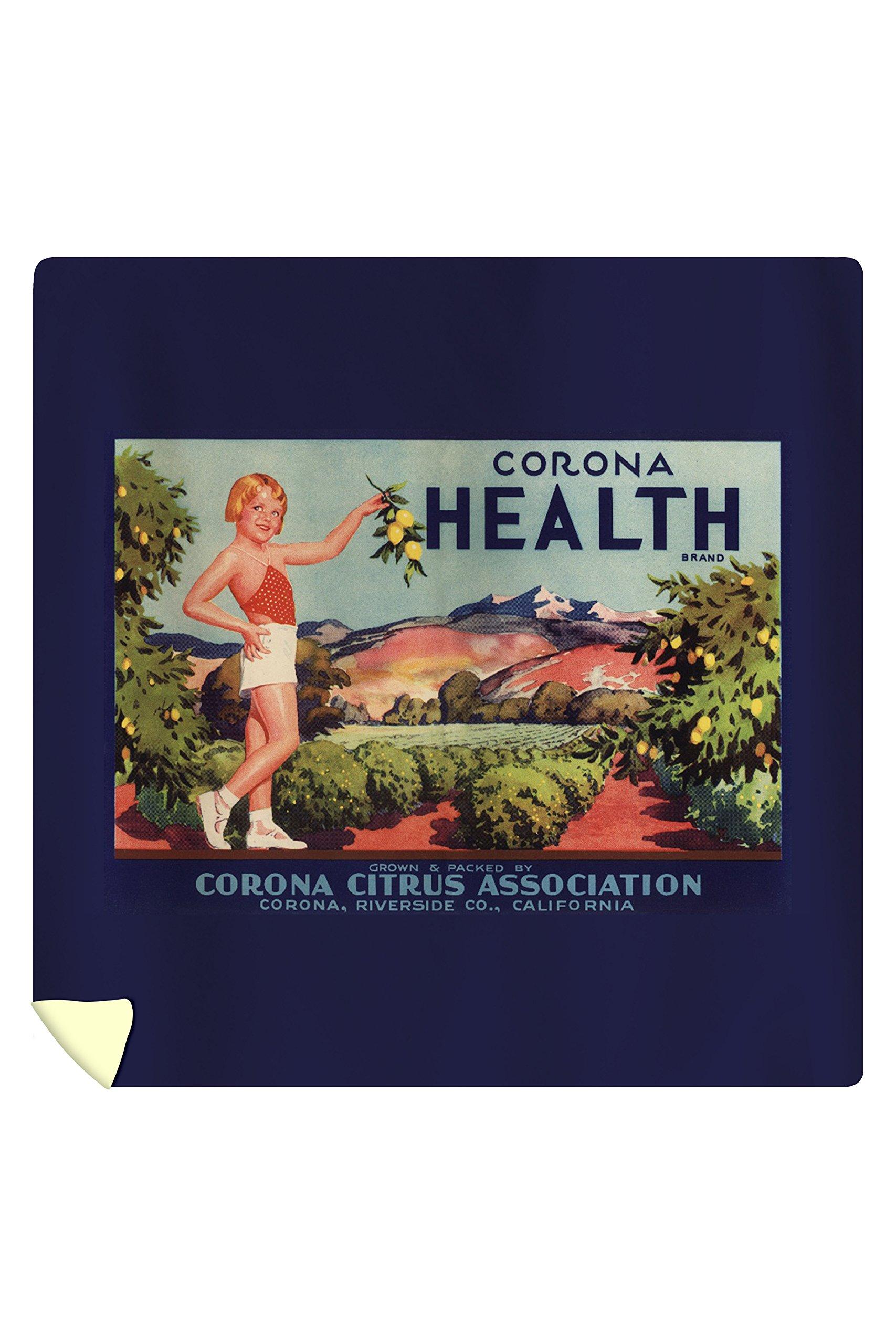 Corona Health Brand - Corona, California - Citrus Crate Label (88x88 Queen Microfiber Duvet Cover)