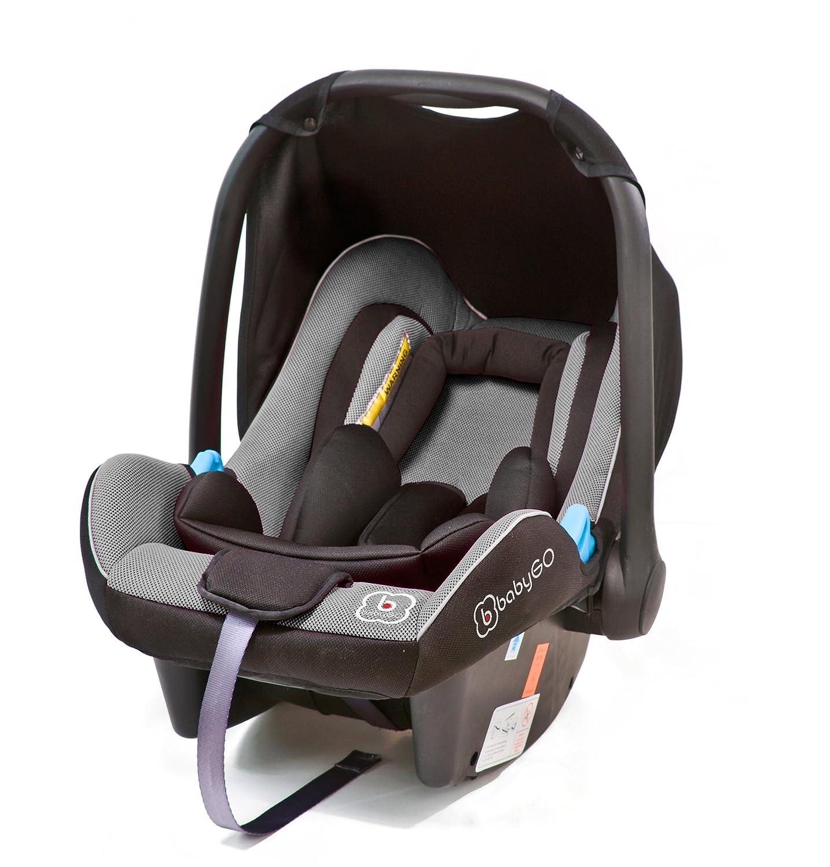 ECE-R 44//04 Sonnenverdeck und Fu/ßabdeckung Gruppe 0+ 0-13 kg Clamaro JUNO white Auto Babyschale ultraleicht 2,95 kg mit Anti-Shock Schaumstoff Baby Autositz inkl Beige Leinen