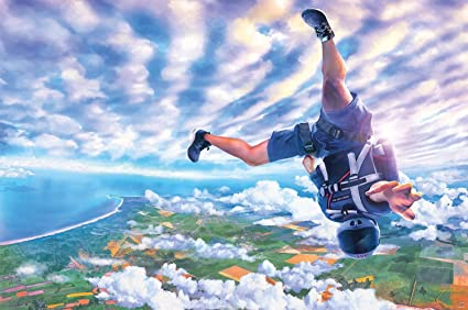 Great Art Skydiving Wall Decoration - Cliffhanger Mural Parachute Jumping  Poster Adventure Wallpaper Extreme Sports (55 x 39 4 Inch / 140 x 100 cm)